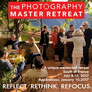 APPLICATIONS due on January 10, 2017 for THE PHOTOGRAPHY MASTER RETREAT