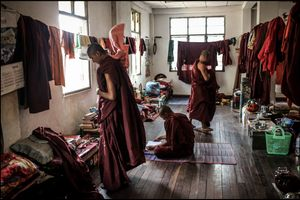 Buddhist monks dormitory