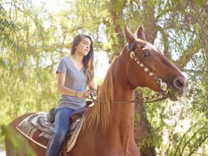 Chloe and Mo the Horse
