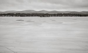 Pontoosuc Lake with old ice © Shaun O Boyle