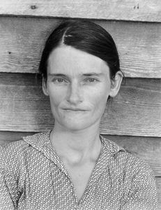 "Allie Mae Burroughs, wife of Floyd. Photo from ""Let Us Now Praise Famous Men."" © Walker Evans. Published by Houghton Mifflin Company"