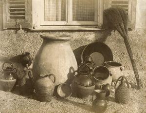 """Pots and Pans at Nice"", 1855 © Alfred Backhouse, Hans P. Kraus Jr."