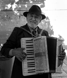 The Accordionist in Seville