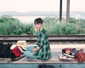 Emily on her 19th Birthday, Rhinecliff Train Station, NY, 2009
