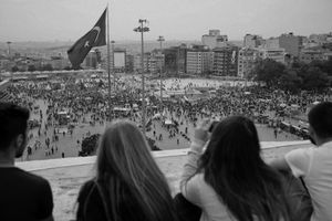"Taksim Square and Gezi Park served as the epicenter for the protests throughout. From the series ""Witnessing Gezi"" © Emin Ozmen"