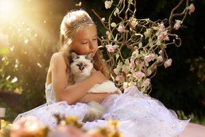 Petite fée et son chat
