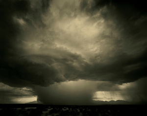 Monsoon storm, Lordsburg, New Mexico