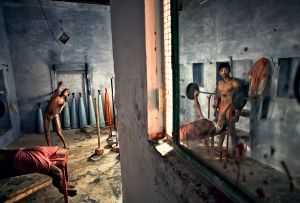 Varanasi, India: A gym in which the local boys train and form their bodies for Kushti, a traditional Indian wrestling discipline. © Matjaz Krivic