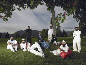 * Cricket Players in Stanley Park/Vancouver, British Columbia/May 2011