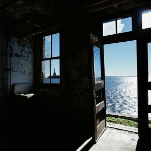 Liberty view, hospital wing, Ellis Island, USA © Dan Dubowitz