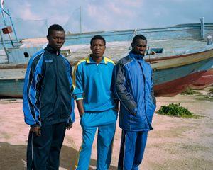 Somaro, Bouba and Abdoul. Lampedusa, Sicily, Italy, January 2017