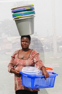 A. Susan: Buckets and utensils for about 8,000 shillings each. Earns about 80,000 shillings per day.