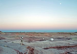 Mars Desert Research Station #11 [MDRS], Mars Society, San Rafael Swell, Utah, USA, 2008 © Vincent Fournier