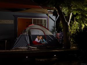 Greta and Kazuki in Tent