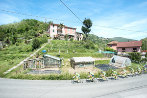 Stage: Liguria. Acqua di Ognio. This stage has a mostly challenging and rough course with a total difference in altitude of nearly 2300 meters over 136 km.