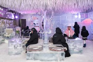 Chillout Ice Lounge, Dubai, January 2016