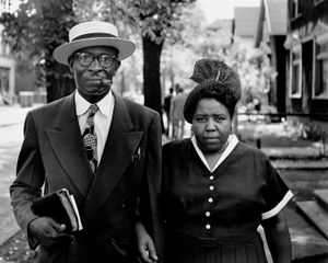 Husband and Wife on Sunday Morning, Fort Scott, Kansas © The Gordon Parks Foundation