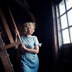Debra as Marilyn Monroe, Zaanse Schans, The Netherlands, 2014.