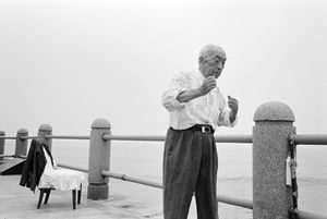 Admiral: on the beach  Admiral Fang, aged 96, Qingdao, Shandong Province © Kate Shortt