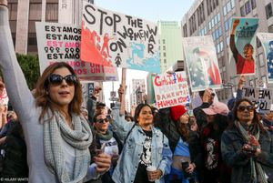 Leading the Way, Women's Day March, Jan. 21, 2017, Los Angeles, CA