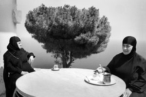 Coffee on the Terrace, Convent of Saydat Al Nouriyeh, Chekka Lebanon 2008