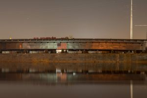 Barge on Hackensack River