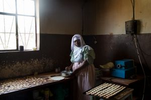 "The nun, Maria Theresa, who prepares the famous cookies of the covent, Gitega. From ""Only in Burundi"" © Anaïs López"