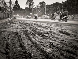 Muddy road, near Thamel