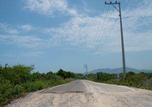 Road leading to Barra de Potosi. Zihuatanejo.