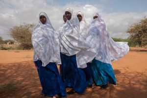 Dadaab, Kenya. Students at Tewfiq secondary school at the Ifo refugee camp.