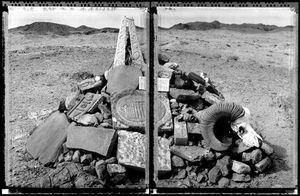 Ovoo, Gobi Desert, Shamanistic and Geographic Marker (Nomadic Mongolia #2), 2002. © Elaine Ling