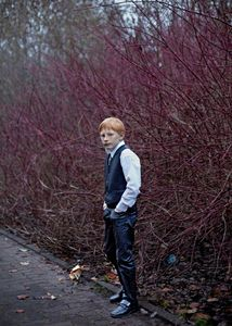 Red head boy in Sunday Clothes. Germany, 2015