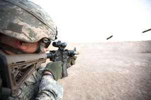 SSG McDonnell fires his weapon. August 2011.