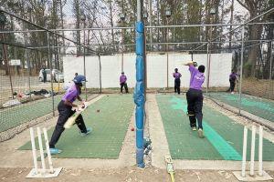 Batting practice. Malawian Under 19 Women's Cricket Team, Blantyre, Malawi, 2016.