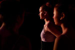08 Nov 2017. Dress rehearsals. Cork Opera House – Backstage. Susan Moran is seen with children from Cork Ballet School.