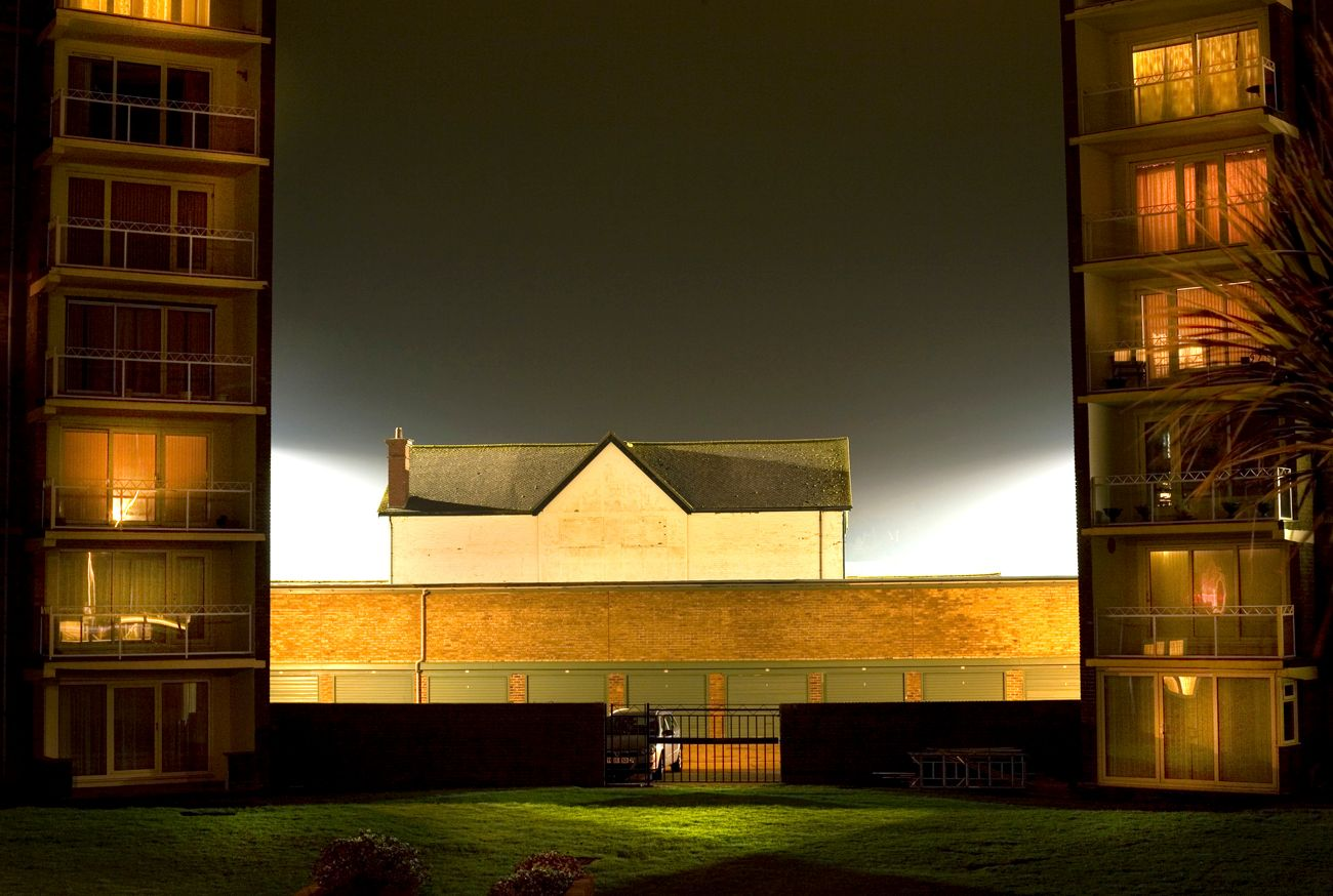 ian hughes around the floodlit grounds lensculture